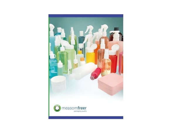 large view of the front cover of Measom Freer's 2017-2018 product catalogue on a white background.